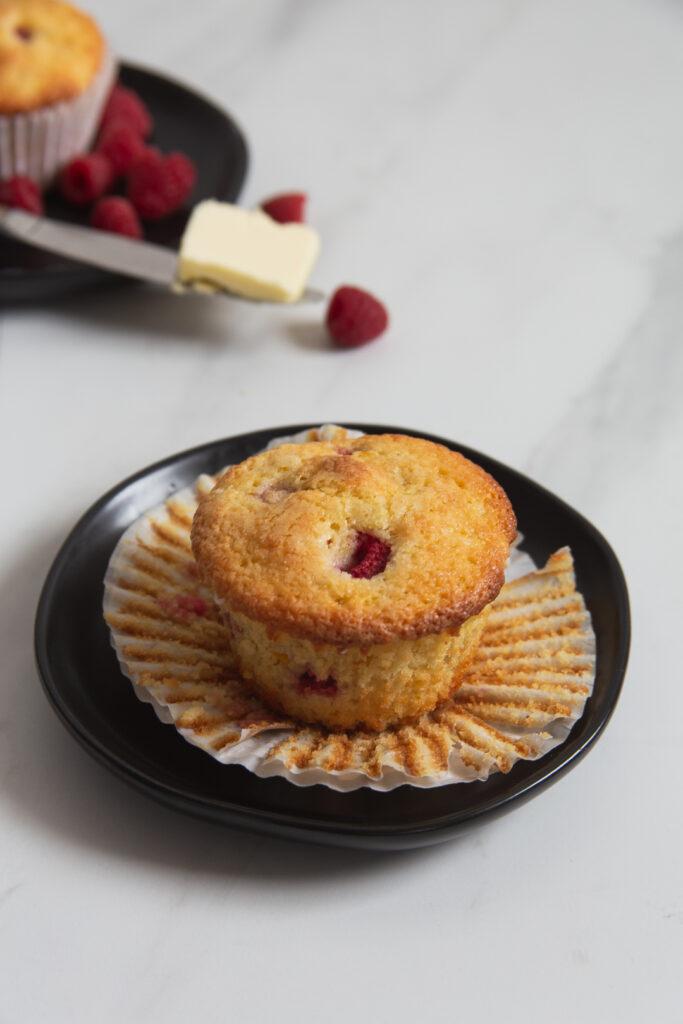 raspberry sweet corn muffins
